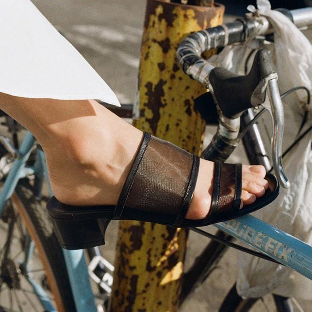 Meet Your New Shoe Crush: The Black Mesh Sandal
