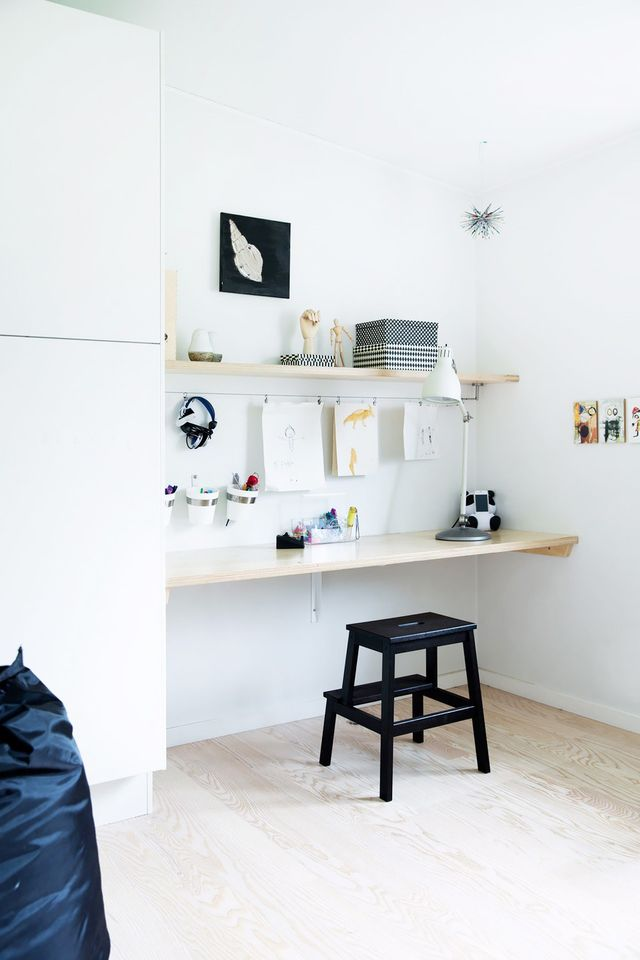 The Bekväm step stool doubles as a great chair for a size-challenged home office. While it doesn't appear very ergonomic at first, the backless style has the potential to enhance your posture...