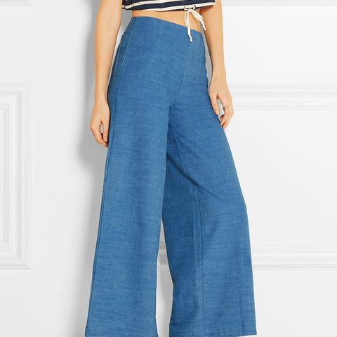 The Side Zip Flared Pants