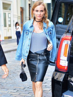Diane Kruger's Leather Skirt Has a Unique Detail