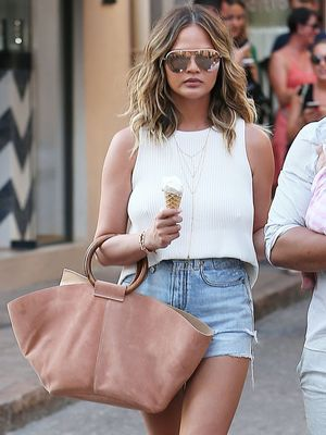 Chrissy Teigen Has Lots of Outfit Ideas for Your Denim Cutoffs