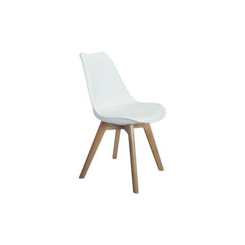 Brandon Dining Chair in White/Oak
