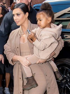 North West Wears Kim's Thigh-High Balenciaga Boots, Is the Cutest Thing Ever