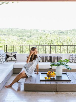 Tour a Lifestyle Blogger's Gorgeous Outdoor Terrace Renovation