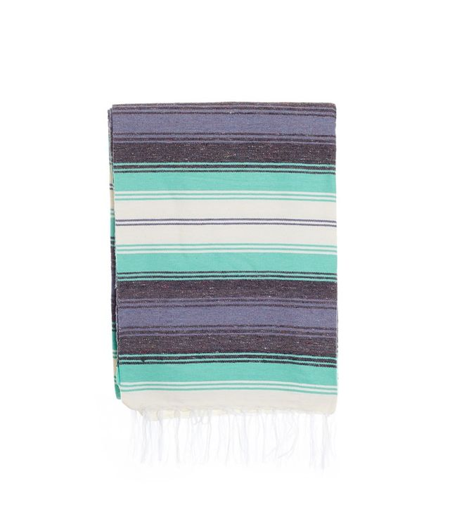 blue serape blanket