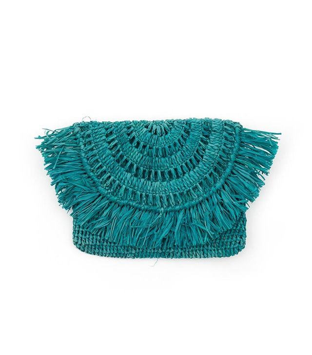 Woven Turquoise Pouch