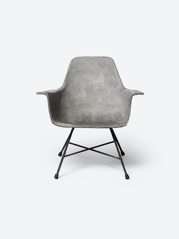 Cement Arm Chairs ~ Time to make some concrete plans mydomaine