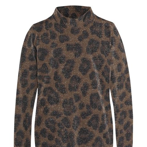 Sidgwick Leopard-Print Jersey and Lurex Top