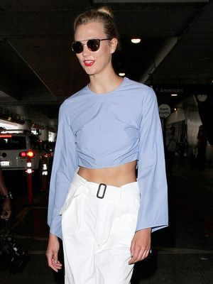 Is The the Most Fashion-y Airport Outfit We've Seen Yet?