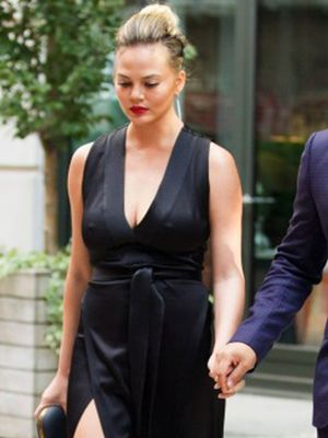 Chrissy Teigen Is a Major Fan of Her Aquazzura Shoes