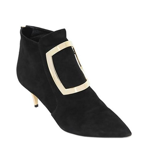 Marie Suede Buckle Ankle Boots