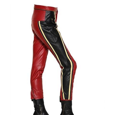 Leather Biker Pants