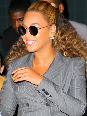 See Beyoncé and Jay Z's Adorable Matching Gray Suit Moment