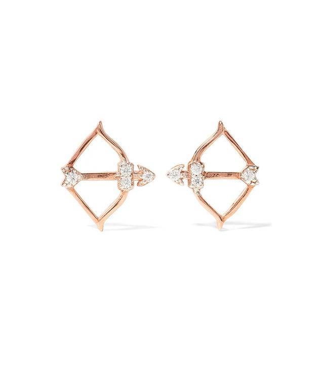 Aamaya By Priyanka Cupid Rose Gold-Plated Topaz Earrings