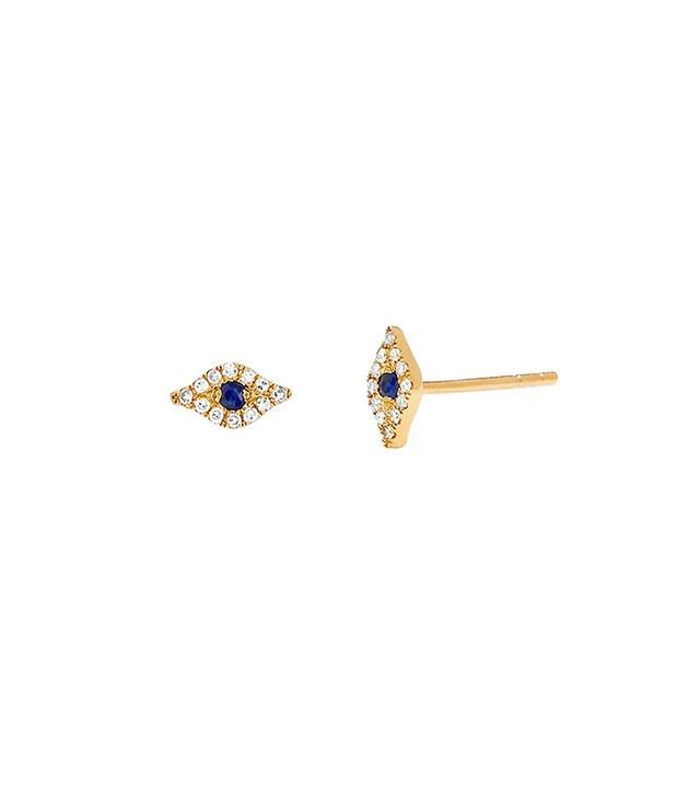 EF Collection Mini Diamond Evil Eye Stud Earring