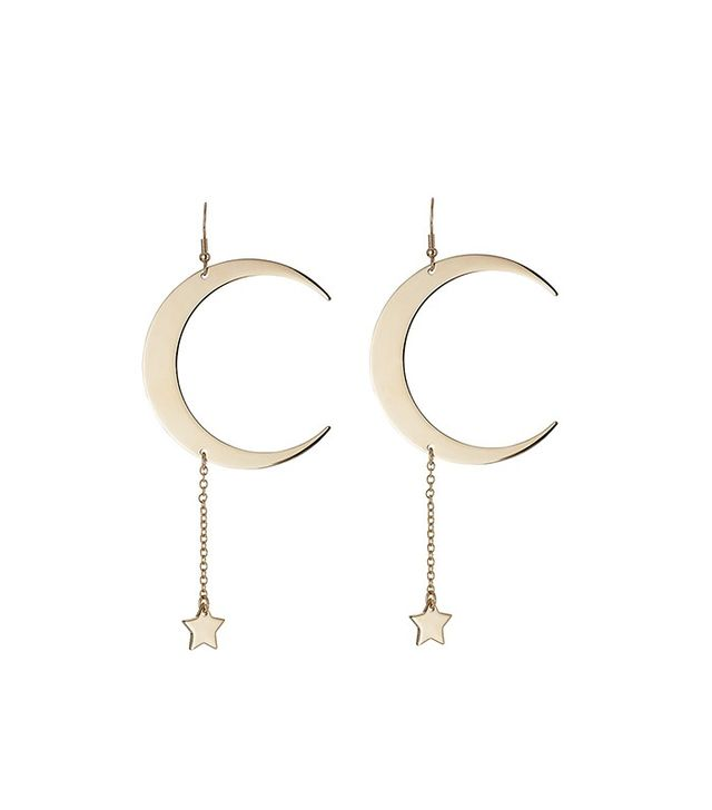 Roberto Cavalli Moon and Star Earrings