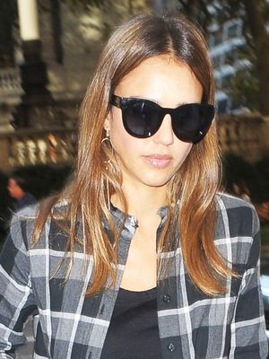 Jessica Alba Is Already Stepping Out in Fall's Signature Pattern