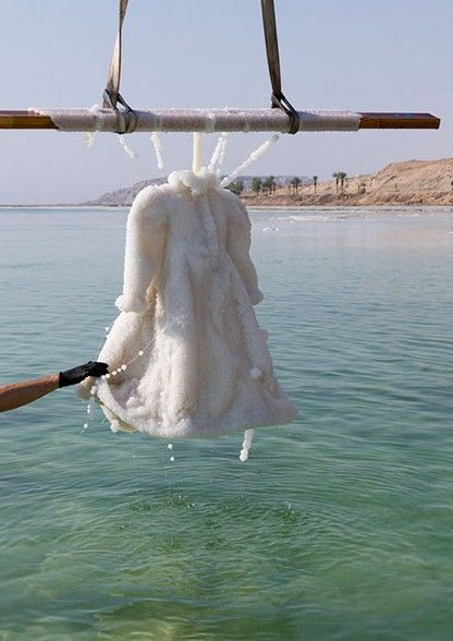 Artist Puts Dress In The Dead Sea 2 Months Later It S A