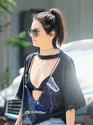 Only Kendall Jenner Could Pull Off This Bra-Exposing Look