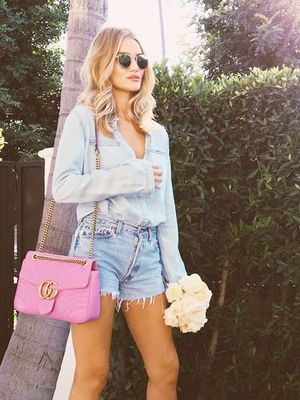 Rosie Huntington-Whiteley Follows This Denim-on-Denim Rule
