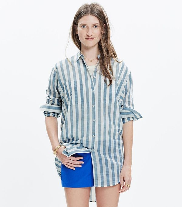 This no cost shirt styling trick will do wonders for your for Womens tall button down shirts