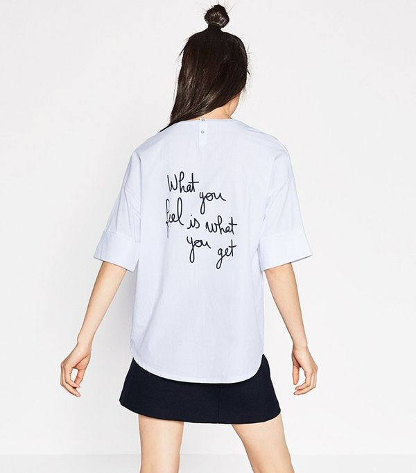 Zara S New T Shirt Trend Is About To Be All Over Instagram