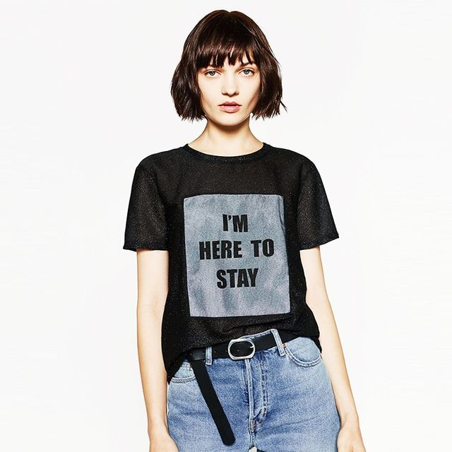 Zara's New T-Shirt Trend Is About to Be All Over Instagram