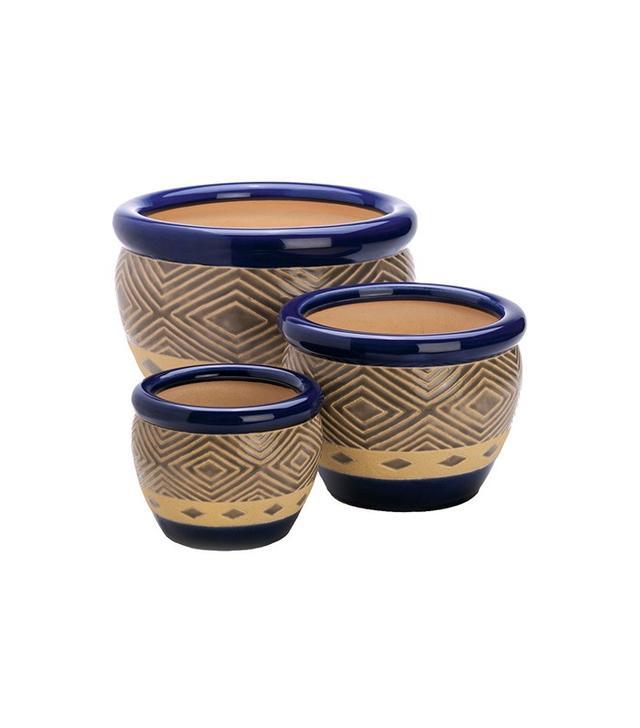 Round Pot Planter Set