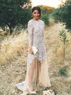 Just Wait Until You See the Back of This Blogger's Wedding Dress