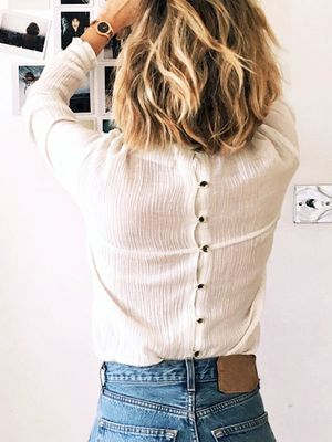 This Blogger Makes a Cool Case for the Button-Back Top