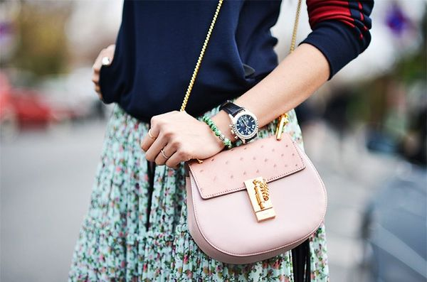 """""""Wearing a men's watch makes a statement about my personal style in general, the bolder face and thicker band offers a nice way to balance feminine pieces like an engagement ring...."""