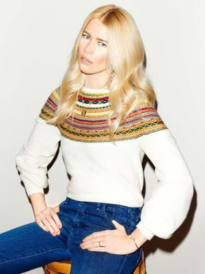 Claudia Schiffer Debuts an Awesome New Sweater Line