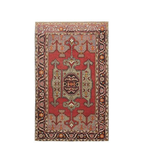 Vintage Geo Medallion Turkish Area Rug