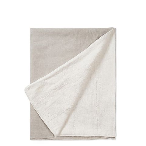 Mud Cloth & Flax Linen Throw