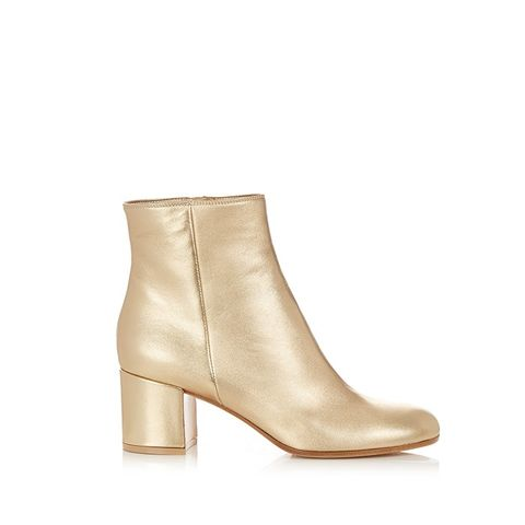 Margaux Block-Heel Leather Ankle Boots
