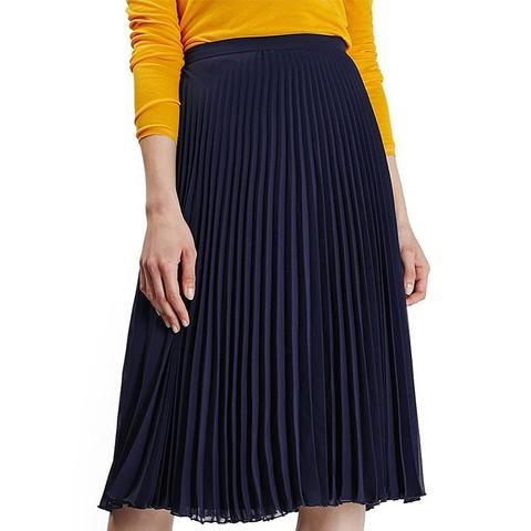 Chiffon Pleated Midi Skirt