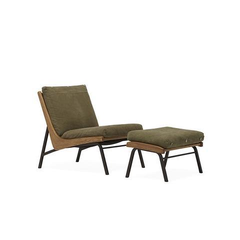 Boomerang Chair + Ottoman