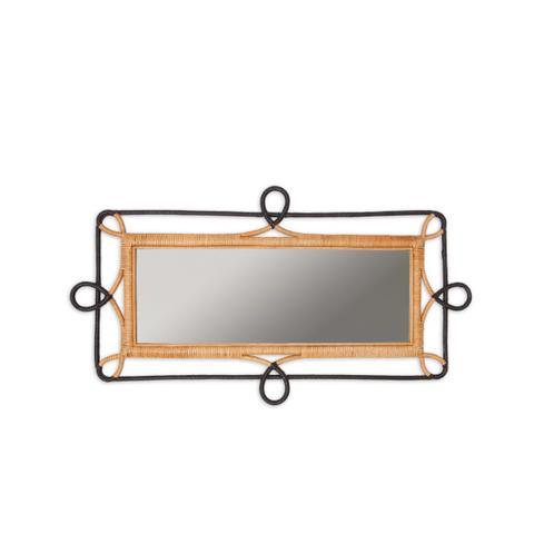 Rectangular Rattan Wall Mirror