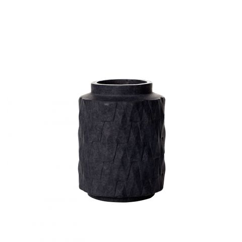 Charcoal Earthenware Vase