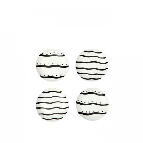 Striped Dessert Plates