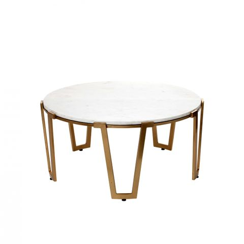 Marble & Gold Coffee Table