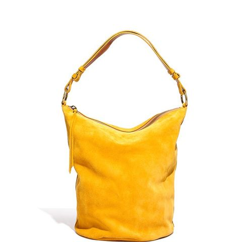 The Lisbon O Ring Bucket Bag Suede