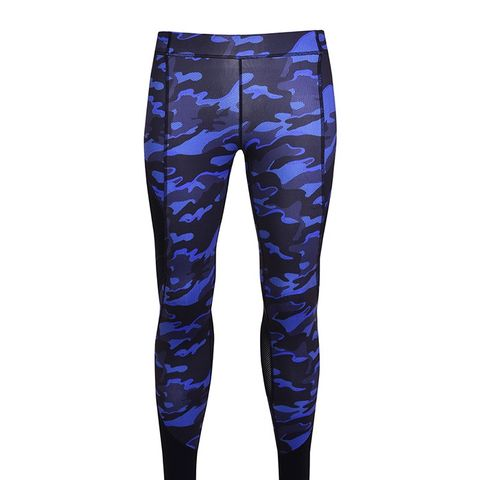Navy Camo Panel Mesh Leggings