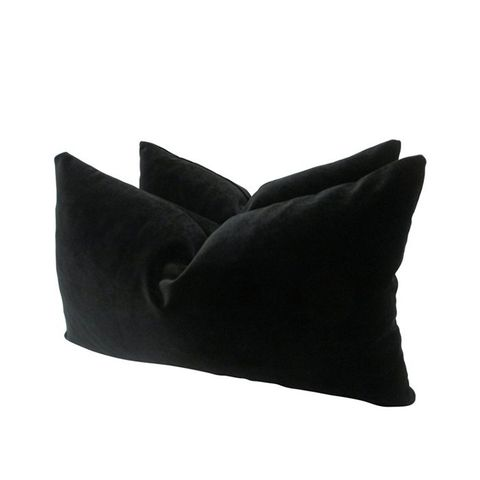 Belgian Black Velvet Pillows
