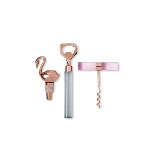 Pink Ombre and Rose Gold Barware Set