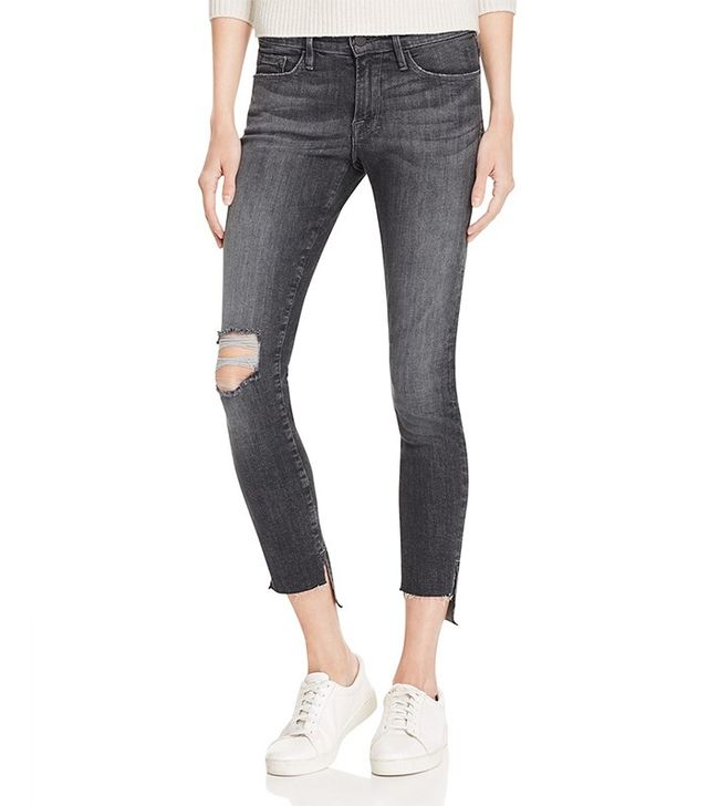 Frame Skinny Raw Stagger Jeans in Marcy