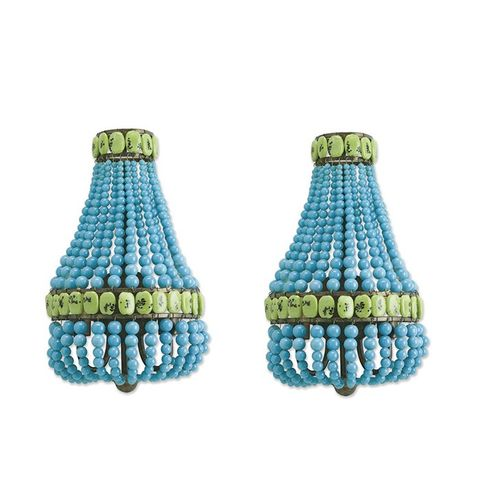 Pair of Beaded Sconces