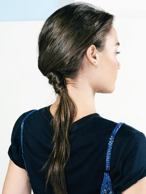 Tutorial: How to Do a Faux–French Twist Ponytail