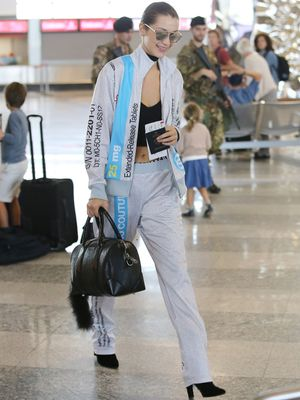 The Lingerie Trend at the Airport? Bella Hadid Says Yes