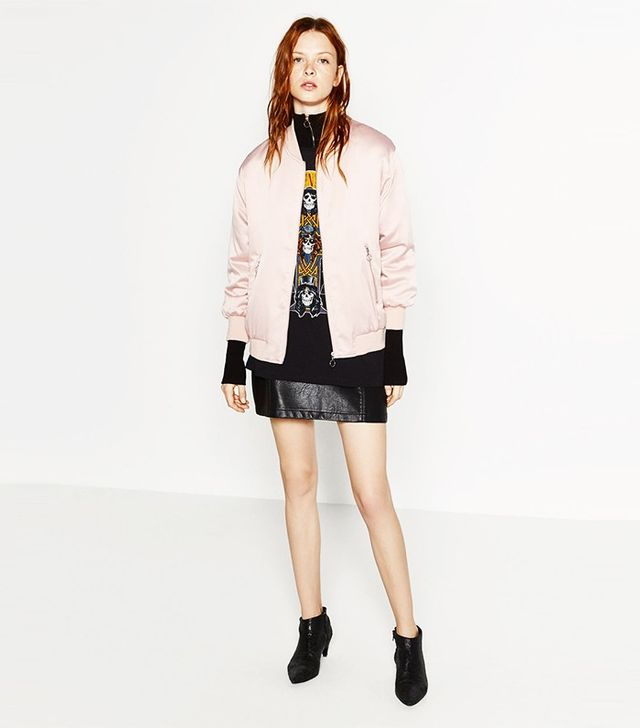 This Is How Zara Girls Wear Their Bomber Jackets Whowhatwear